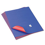 Pacon Tandem Tones Poster Board, 14 pt., 22 x 28, Blue/Red