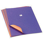 Pacon Tandem Tones Poster Board, 14 pt., 22 x 28, Purple/Orange