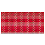 "Pacon Paper Roll, Tu Tone Brick Design, 48""x50', Red"