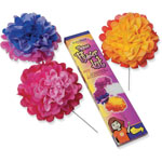 "Pacon Tissue Paper Flower Kit, 10"", 7 per kit, Assorted Colors"