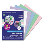 Pacon Tru-Ray Construction Paper, 76 lbs., 9 x 12, Assorted Pastel, 50 Sheets/Pack