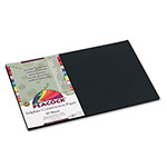 Pacon Sulphite Construction Paper, 76 lbs., 12 x 18, Black