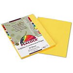 Pacon Sulphite Construction Paper, 76 lbs., 9 x 12, Yellow