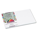 Pacon Sulphite Construction Paper, 76 lbs, 12 x 18, Bright White