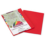 Pacon Sulphite Construction Paper, 76 lbs, 9 x 12, Holiday Red