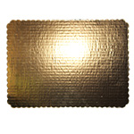 Honeymoon Paper Scalloped Doublewall Cake Pad, 1/2 Sheet, Gold