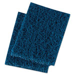 Boardwalk Extra Heavy-Duty Scour Pad, 3 1/2 x 5, Blue/Gray, 20/Carton