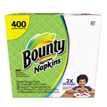 Bounty Quilted Napkins, 1-Ply, 12.2 x 12, White, 200/Pack, 400/Carton