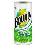 "Bounty® 10595 White Bulk Perforated Paper Towels, 11"" x 11"""