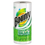 Bounty Perforated Paper Towels, 9 x 10 2/5, White, 52 Sheets/Roll