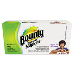Bounty® Everyday Napkins, White, 1 Ply, Pack of 100