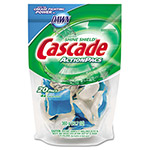 Cascade Action Pacs, Fresh Scent, Blue, 12.7oz Reclosable Bag, 20/Bag