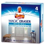 "Procter & Gamble Mr. Clean Magic Eraser Pads, 4-3/5"" x 2-2/5"" x 1"" 4/PK, BE/WE"