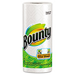Bounty® Perforated Paper Towels, 9 x 10 2/5, White, 52 Sheets/Roll