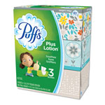Puffs Plus Lotion Facial Tissue, White, 2-Ply, 116/Box, 3 Boxes/Pack, 8 Packs/Carton
