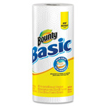 Bounty Basic Paper Towels, 1-Ply, 48 Sheets/RL, WE