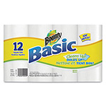 Bounty Basic Paper Towel, 1-Ply, 12 Rolls, White
