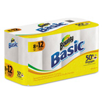 Bounty Basic Paper Towels,11 x 10 2/5, White, 72 Sheets/Roll, 8 Roll/Carton