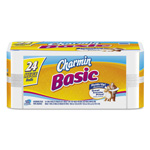 Charmin Basic Big Roll, 1-Ply, White, 264 Sheets/Roll, 24/Carton