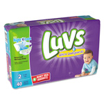 Luvs Diapers, Size 2: 12 to 18 lbs, 40/Pack, 2 Pack/Carton