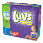 Luvs Diapers, Size 4: 22 to 37 lbs, 29/Pack, 4 Pack/Carton