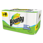 Bounty Perforated Towel Rolls, 11 x 10 2/5, White, 66/Roll, 12/Carton