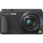 Panasonic LCD Camera, Tilt, Wifi, 20X Zoom, 24-480mm, Black