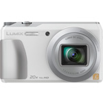 Panasonic LCD Camera, Tilt, Wifi, 20X Zoom, 24-480mm, White