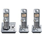 Panasonic Expandable Digital Cordless DECT 6.0 Phone System with 3 Handsets
