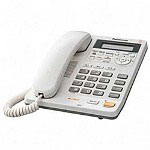 Panasonic Speakerphone w/Caller ID/Answering Machine, 20 Number Redial, White