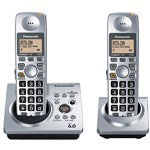 Panasonic Expandable Digital Cordless DECT 6.0 Phone System with 2 Handsets