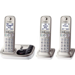 Panasonic Digital Cordless Answering Sys, Expandable, 3 Handsets, SR