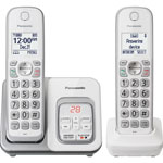 Panasonic 2 Handset Cordless Telephone, Voicemail, 1.9GHz Frequency, WE