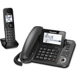 Panasonic Link2Cell Corded/Cordless, Talking Caller ID, Black
