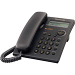 Panasonic Integrated Phone, with Call Wait/Caller ID, 50 Station Memory, BK