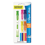 Papermate® Clearpoint Mix & Match Mechanical Pencil, 0.5 mm, Assorted Color Tops
