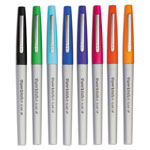 Papermate® Flair Porous Point Stick Liquid Pen, Assorted Ink, Ultra Fine, 8 pens