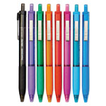 Papermate® Ballpoint Pens, Retractable 1.0mm, 300RT, 8/PK, Ast Barrel/Ink