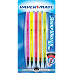 Papermate® Sharpwriter Pencil, #2 Lead, Assorted Neon Colors, 5/Pack
