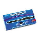 Papermate® Stick Pens, Medium Point, Black Ink