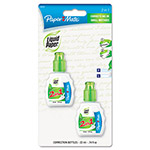 Papermate® Liquid Paper 2-in-1 Correction Combo, 22ml Bottle, White, 2 per Pack