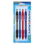 Papermate® Retractable Ballpoint Pen, 1.4mm, 4 Pen Pack