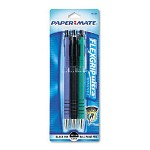Papermate® Flexgrip Ultra Retractable Ball Pen, Black Barrel/Ink, Med Pt