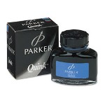 Parker Super Quink Bottled Washable Ink, Blue, 2 oz.