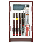 Rotring Isograph Technical Pen Set with Ink, Leads, Erasers and Compass