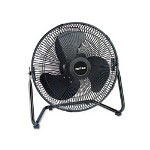 "Holmes 14"" High-Velocity Adjustable Tilt Floor Fan With All Metal Construction, 3-Speed"
