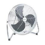 "Patton / Holmes 18"" Whole House High Velocity 360° Tilt Air Circulator, Chrome"