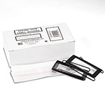 "Panter Spring Lock Metal Label Holders Binders, 1"" Binder Cap., Clear/Black, Dozen"