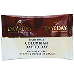 Day to Day Coffee 100% Pure Coffee, Colombian, 2 oz Pack, 42/Carton