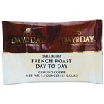 Day to Day Coffee 100% Pure Coffee, French Roast, 1.5 oz Pack, 42/Carton